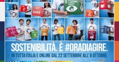FESTIVAL DELLO SVILUPPO SOSTENIBILE  DAL 22 SETTEMBRE  ALL'8 OTTOBRE  SUL TEMA DELLA TRASFORMAZIONE DELL'ITALIA E DELL'EUROPA