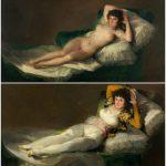 La maja desnuda e la maja vestida - quando per nascondere un nudo dovevi commissionare due quadri.