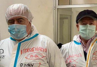 Roberto Cecere in visita all'ospedale S.M. Goretti di Latina