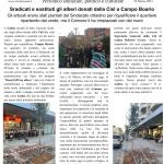Sradicati e sostituiti gli alberi donati dalla Cisl a Campo Boario