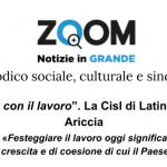 """1° Maggio, """"L'Italia si cura con il lavoro"""". La Cisl di Latina sarà con Luigi Sbarra ad Ariccia"""