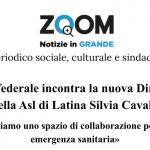 Il Sindacato confederale incontra la nuova Direttrice Generale della Asl di Latina Silvia Cavalli
