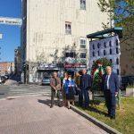 Nel giorno della Liberazione deposta dalla Cisl una corona in via Don Morosini in ricordo dei martir...